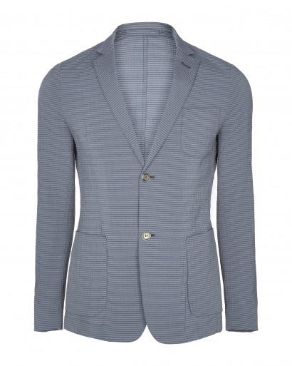 Indigo Seersucker Jacket