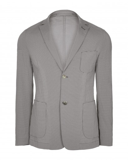 Grey Seersucker Jacket