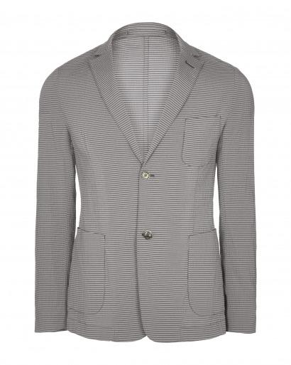 Grey Seersucker Jacket