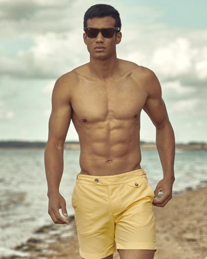Luxury Yellow Swim Short