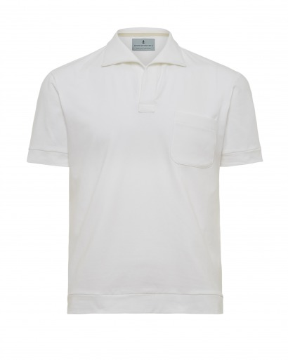 White Luxury Polo Shirt