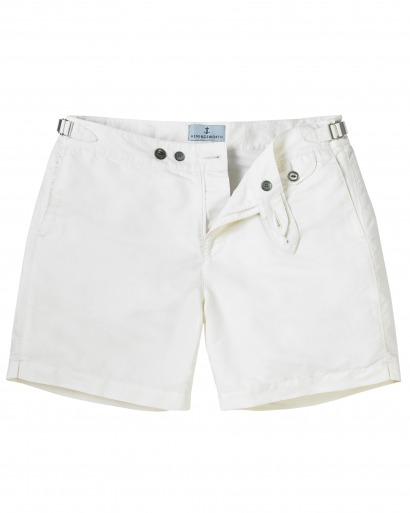 Luxury White Swim short