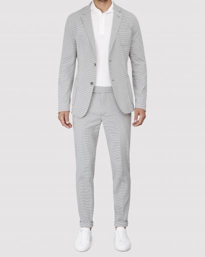 Grey Seersucker Suit